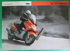 KYMCO XCITING 500 I DEPLIANT BROCHURE  PUBBLICITA PROSPEKT RECLAME