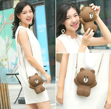Cute 3D Silicone teddy Bear Soft Phone For Chain Girl Shoulder Bag
