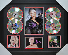PINK MEMORABILIA 4cd  FRAMED SIGNED LIMITED EDITION .