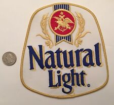 "Natural Light Beer Vintage Logo Patch Anheuser-Busch Budweiser Bud 6"" X 6.5"""