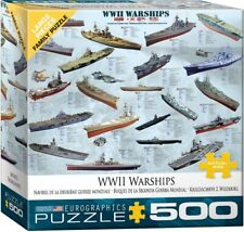 World War II Warships Chart (500 Piece Eurographics Jigsaw Puzzle) Military