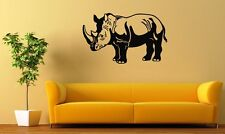 Wall Stickers Vinyl Decal African Rhino Animal Nature Fauna Zoo ig144
