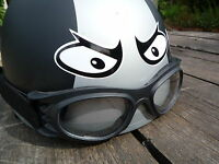 MANIC  EYES Small Size Classic Helmet STICKERS Rockers Bike Motorcycle Racer