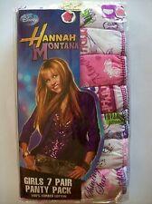Hannah Montana Disney Girls Underwear 7 Panties Sz 6 NIP