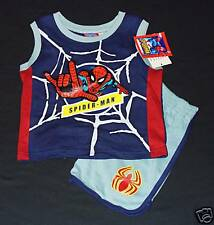 AMAZING SPIDER-MAN Tank-Top & Shorts Clothing Set Outfit Toddler's Size 2T  $18