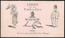 Ad Pamphlet - Lyon's Umbrellas for Sale at Marshall Field - Streamline Design
