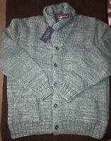 Polo Ralph Lauren Shawl Cardigan Denim Blue Merino Wool Silk 2XL XXL $649.00