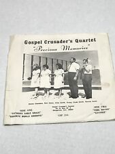 "Gospel Crusaders Quartet ""Precious Memories"" picture sleeve only! Morganton, NC"