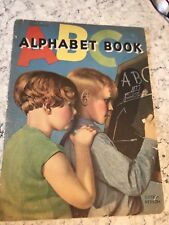 Vtg Whitman Publishing Childrens ABC Alphabet Book Linen Finish Copyright 1935
