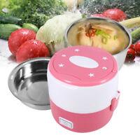 220V Portable 2 layer Electric Heating Lunch Box Storage Food Warm Container LJ