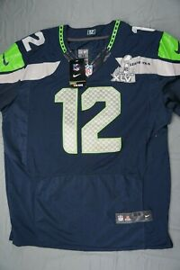 Nike NFL Onfield Players 12th Man Sea Seahawks Jersey #12. Men's Size 44, NWT!!
