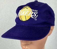 Vintage LA Lakers Snapback Hat Cap One Size Fits All Purple