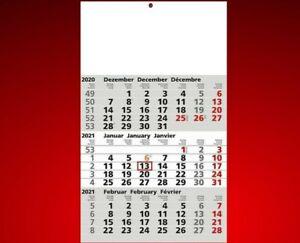 Dreimonatskalender 2021 - 3-Monatskalender Wandkalender - Kalender 30x49cm