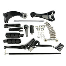 For Harley Sportster 2014-2017 Black Forward Control Complete Pegs Lever Linkage