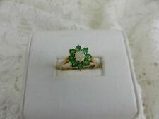 Lab-Created Emerald Yellow Gold Fine Jewellery
