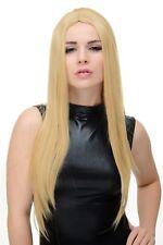 Perruque pour Femme Femme Cosplay Raie au Milieu Blond Clair Lisse Long YZF-7181