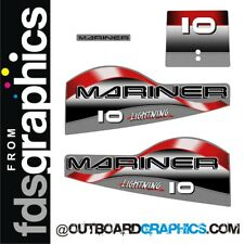 Mariner 10hp Lightning outboard decals/sticker kit