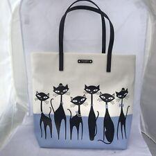 Kate Spade New York Cats Tote Bag Bon Shopper Jazz Things Up Handbag Purse New!