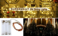 3/6/9/12Pcs 2M 20  LED String Fairy Light Battery Powered Copper Wire Warm White
