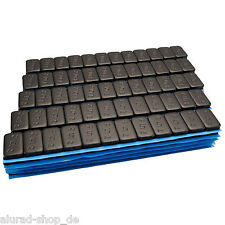 100 SCHWARZ Premium Auswuchtgewichte 12x5g Klebegewichte 6KG Kleberiegel Riegel