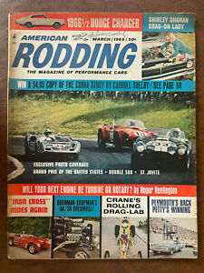AMERICAN RODDING Magazine Of Performance Cars March 1966 Dodge Charger Shelby