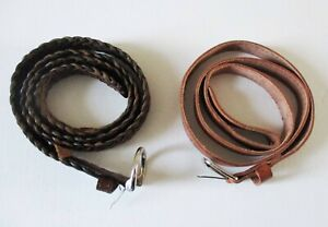 TWO MENS LEATHER BELTS