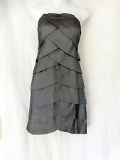 Romeo & Juliet Couture Straight Mini Grey Shiny Wedding Holiday Party Dress L