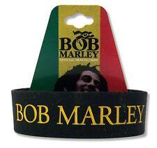 BOB MARLEY - LEGEND BLACK SILICONE WRISTBAND REGGAE BRACELET RASTA NEW OFFICIAL