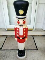 Blow Mold Nutcracker Tall Black Hat Plastic Lighted Outdoor Christmas! 40""