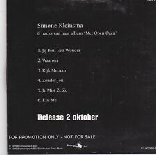 Simone Kleinsma-Met Open Ogen promo cd maxi single