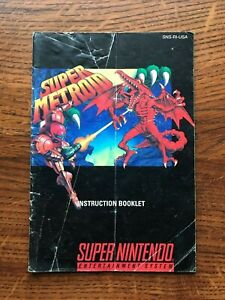 Super Metroid SNES Super Nintendo Instruction Manual Only