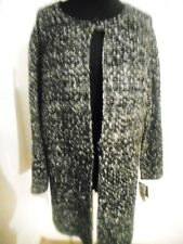 ALFANI SWEATER TWEED BLACK & WHITE SIZE LARGE 2 IN 1 STYLE LONG OR SHORT ZIPPER