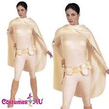 Licensed Ladies Padme Amidala Costume Star Wars Bodysuit Womens Fancy Dress