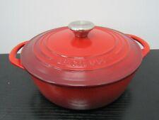 Le Creuset Red Enamel Cast Iron Dutch Oven