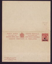 GB/BRITISH LEVANT POSTAL STATIONERY PLUS REPLY CARD