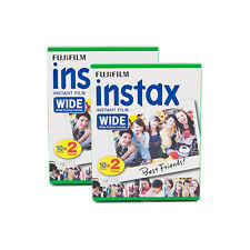 2 Packs 40 Instant Photos Fuji FujiFilm Instax Wide Film Polaroid Camera 200 210