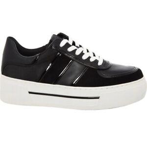 Michael Kors Trainers Size UK 7 EU 40 Women Black Suede Platform Casual Sneakers