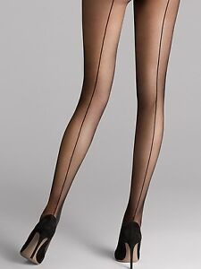 Wolford Individual 10 Back Seam Tights, Stockings With Seam, New+Boxed