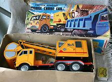 VINTAGE JAPAN DAIYA TIN TOY Mobile Crane Cab №5 Excavator  TRUCK + Box