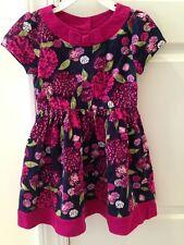 Gymboree Girl 4T Chrysanthemums Flower Purple Magenta Corduroy Fall Dress