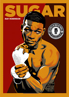 Sugar Ray Robinson Retro Wrestling Print 8x10 UK A4 Boxing Hologram & Numbered