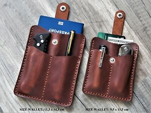 pocket organiser leather edc wallet leather edc organizer EDC Multitool pouch