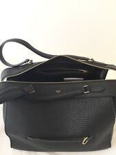 Auth CELINE Black leather RING Bag   Size M - BORSA SAC