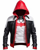Batman Arkham Knight Game Red Hood Leather Jacket & Vest Costume