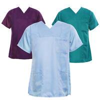 Unisex Doctor Nurse Tunic Nursing Top Medical Hospital Clinic Uniform