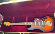 More details for squier classic vibe bass vi 6 string bass guitar in sunburst fender + hard case