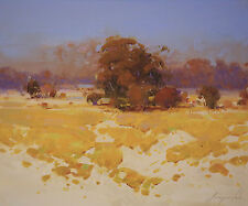 Autumn Palette Landscape Oil Painting on Canvas One of a Kind Signed Painting