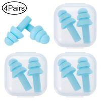 4Pairs Soft Silicone Ear Plugs In Box Anti Noise Sleep Work Study bara