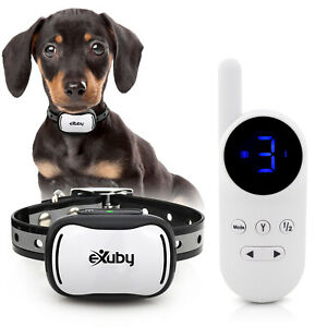 eXuby - Tiny Shock Collar for Small Dogs 5-15lbs - White Remote