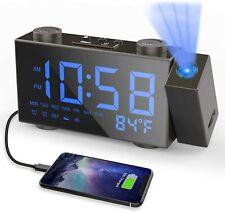 Projection Alarm Clock Digital Dual Alarm Clocks for Bedroom with Fm Radio
